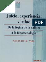 Vigo Alejandro - Juicio Experiencia Verdad - De La Logica de La Validez a La Fenomenologia