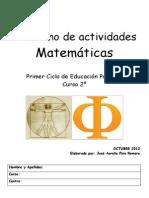 CUADERNO DE ACTIVIDADES MATEMATICAS 2º