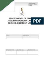 Pts Reposicion Linea de Servicio, Liquidos y Limpieza