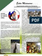 Boletin 150 INFORME MISIONERO DE CHILE - MARZO 2010