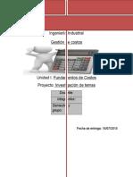 Investigación de Temas Unidad 1 Gestion de costos
