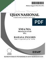 Pembahasan Bocoran Soal UN Bahasa Inggris SMA 2015 by Pak-Anang.blogspot.com