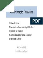 920387_Aula 11 - Administração Financeira - Fluxo de Caixa e Outros