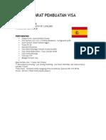 Syarat Pembuatan Visa Spanyol