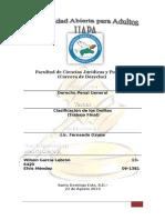 Clasificacion Del Delito (Final)
