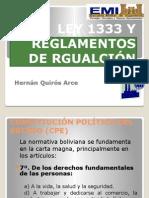 Ley 1333 y Reglamentos de Rgualción
