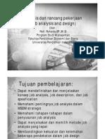 Analisis Dan Rancang Pekerjaan (Job Analysis Dan Design)