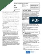 TDAP Vaccine Informational Page