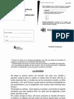 Prueba Evaluación Diagnóstica Competencia lingüística_Castilla y León_Mayo2009_4ºEPO