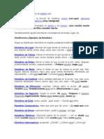 Adverbios, Adjetivos, Sustantivos y Conectores