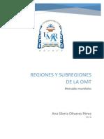 Regiones y Subregiones de La OMT