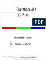 Filed operation of a CO2 flood