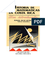 Historia de Las Matematicas en Costa Rica