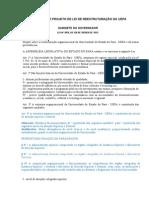 Proposta de Projeto de Lei de Reestruturação Da Uepa (1)
