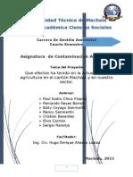 Informe Efectos de La Agricultura en Machala 04.11.15 Salud y Medio