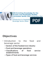 Introduction F& b service