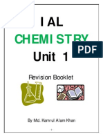Edexcel AS Chemistry Unit 1 Revision Booklet-Worksheet
