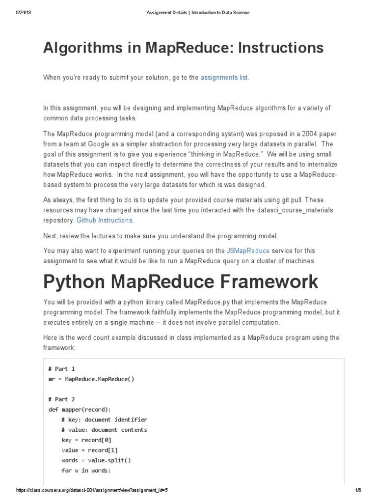 Assignment 3 | Map Reduce | String (Computer Science)