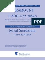 Paramount Network Hospital List