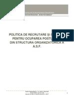 Politica de Recrutare Si Selectie Feb 2015