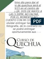 Curso Quechua Nivel Basico