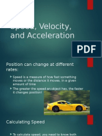 speed velocity and acceleration  1