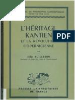 Jules Vuillemin Lheritage Kantien Et La Revolution Copernicienne Fichte Cohen Heidegger