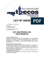 Ley Nº 30036 Teletrabajo
