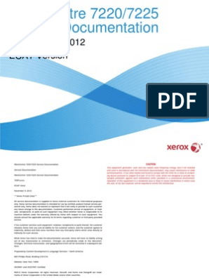 Xerox 7220-7225 Service manual | Electromagnetic Interference