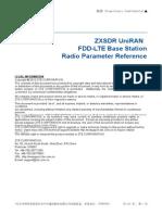ZXSDR UniRAN (V3.10.20) FDD-LTE Base Station Radio Parameter Reference