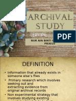 archival Study