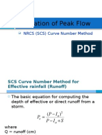 NCRS Method for Peak Flow Estimation