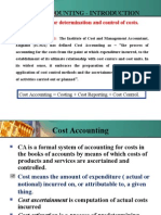 Introduction to Cost Accounting- Module 1