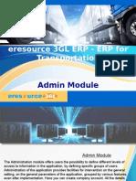 eresource 3GL ERP | ERP For Transportation Business | Admin Module