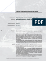 DPA31 Francesc Mitjans. Arquitectura Moderna y Paisaje
