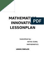 Mathematics Innovative Lessonplan