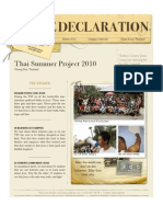 March Newsletter from Thailand