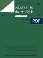 Matrix Analysis, Bellman