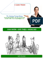 Chien Luoc Canh Tranh- GV Hoang Trung Dung
