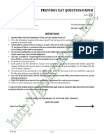 XAT 2013 Question Paper