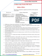 Current Affairs Pocket PDF - ''July 2015 by AffairsCloud