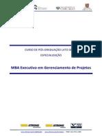MBA Gerenciamento de Projetos Ementa GPR