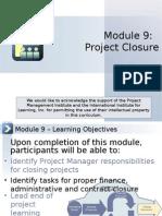 UofWA Project Closure