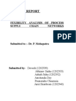 FEXIBILITY ANALYSIS OF PROCESS SUPPLY CHAIN NETWORKS