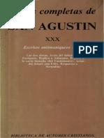 San Agustin - 30 Escritos Antimaniqueos 01