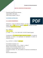 Exemplo de Dimensionamento de Lagoas de Estabilização