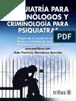 Psiquiatria Para Criminologos y Criminologia Para Psiquiatras Medilibros.com