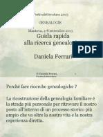 Guida Rapida Alla Ricerca Genealogica