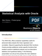 Statistical Analysis With Oracle