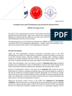 Evaluation of the April 27 Parliamentary By-Elections Pre-Election Period